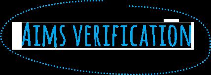 Aims verification